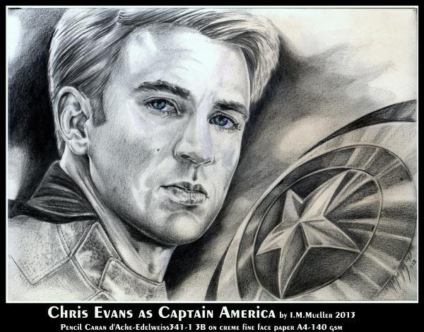 Portrait Of Chris Evans By Immueller On Stars Portraits